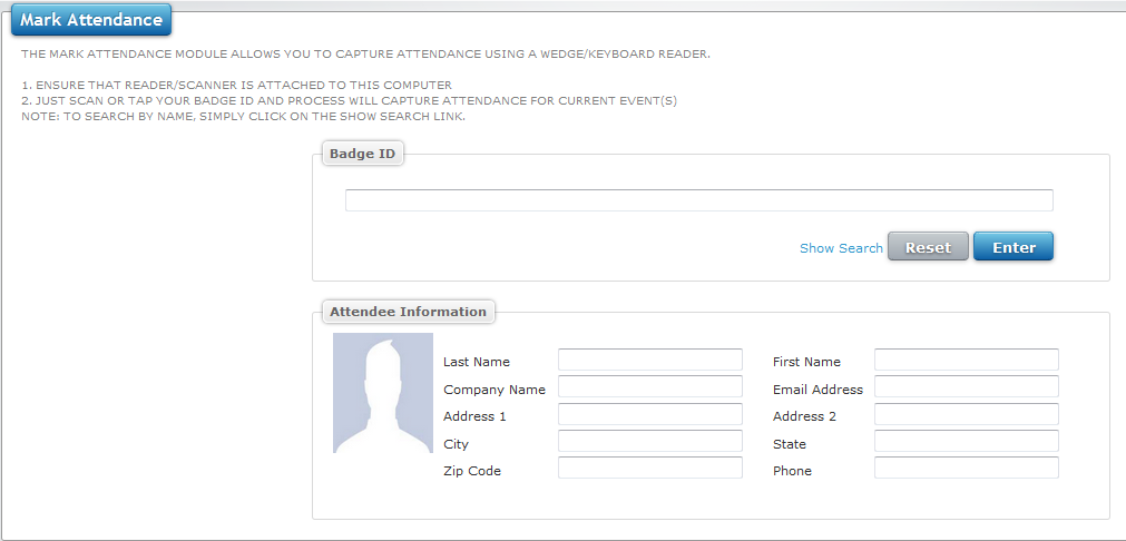 Capture attendance using i-Attend